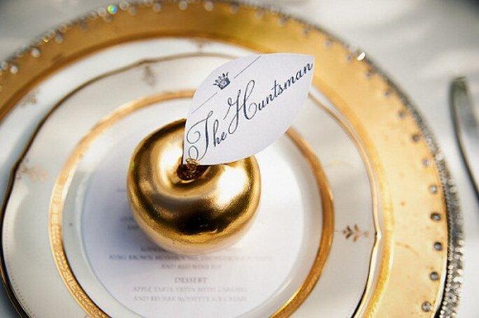 Decorazioni per la tavola. Foto: The wedding birds via stylemepretty.com