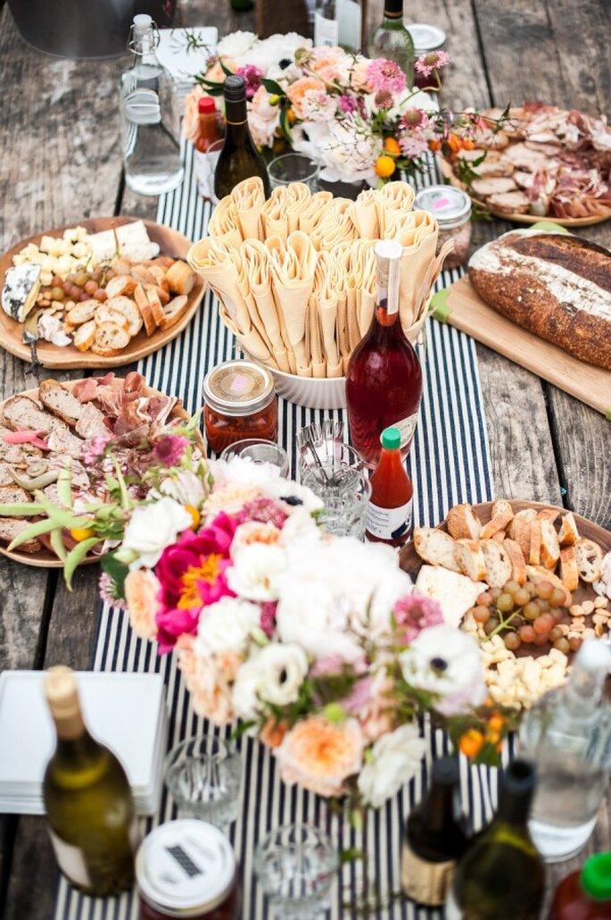 Buffet en el banquete de tu boda - Foto Melanie Duerkopp