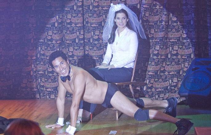 """Imagen de la despedida de soltera en """"La proposición"""" Foto: Productora Walt Disney Pictures"""