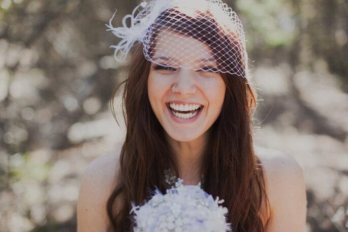 Cómo peinar mi fleco el día de la boda - Foto Paperback Weddings