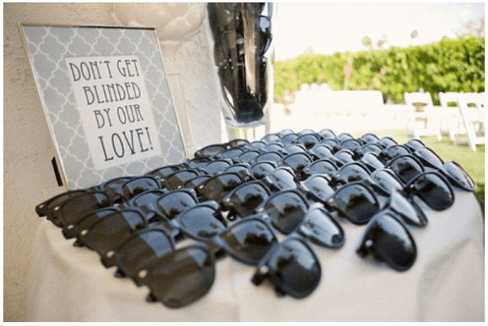 Unos lentes oscuros marcarán el toque fashionista de tu boda - Foto Occasions Online