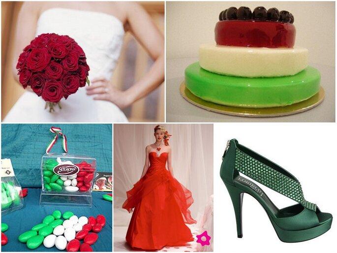Ispirazioni per un matrimonio tricolore