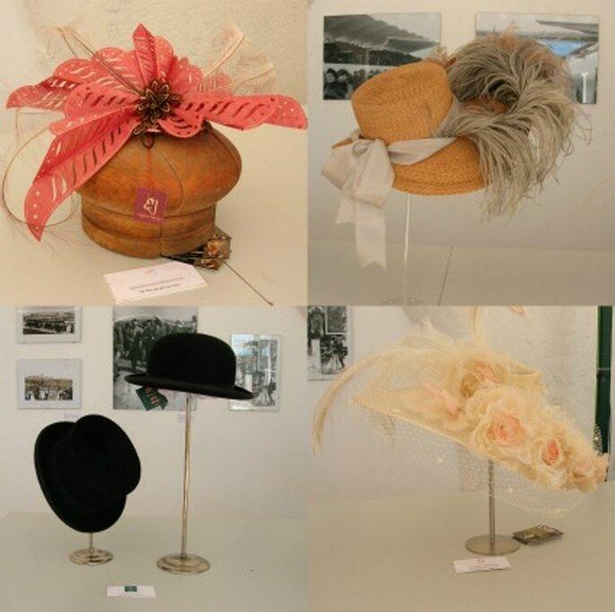Algunos de los sombreros de la exposición - Amaya Barriuso