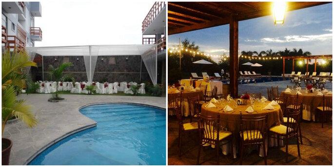 Créditos: foto izquierda de Hotel Villa del Sur/ foto derecha de Casa Hacienda San José