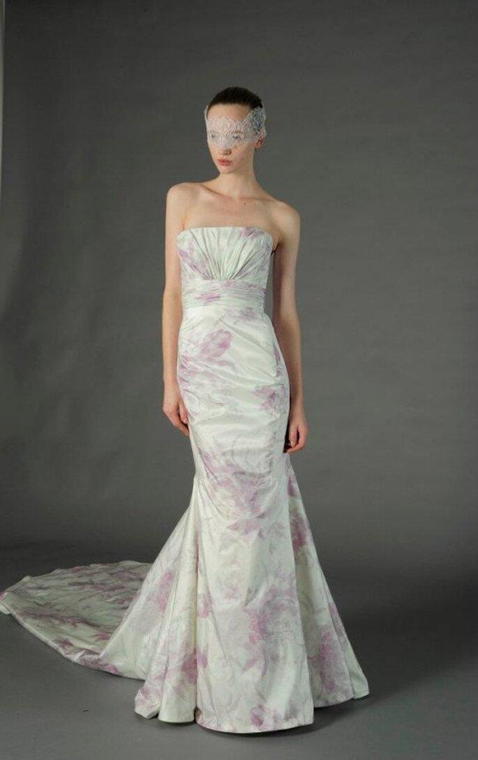 Vestido de novia floreado al pastel - Foto Douglass Hannant 2013
