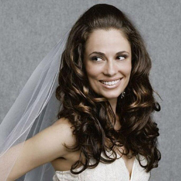 Peinado de novia semirecogidos