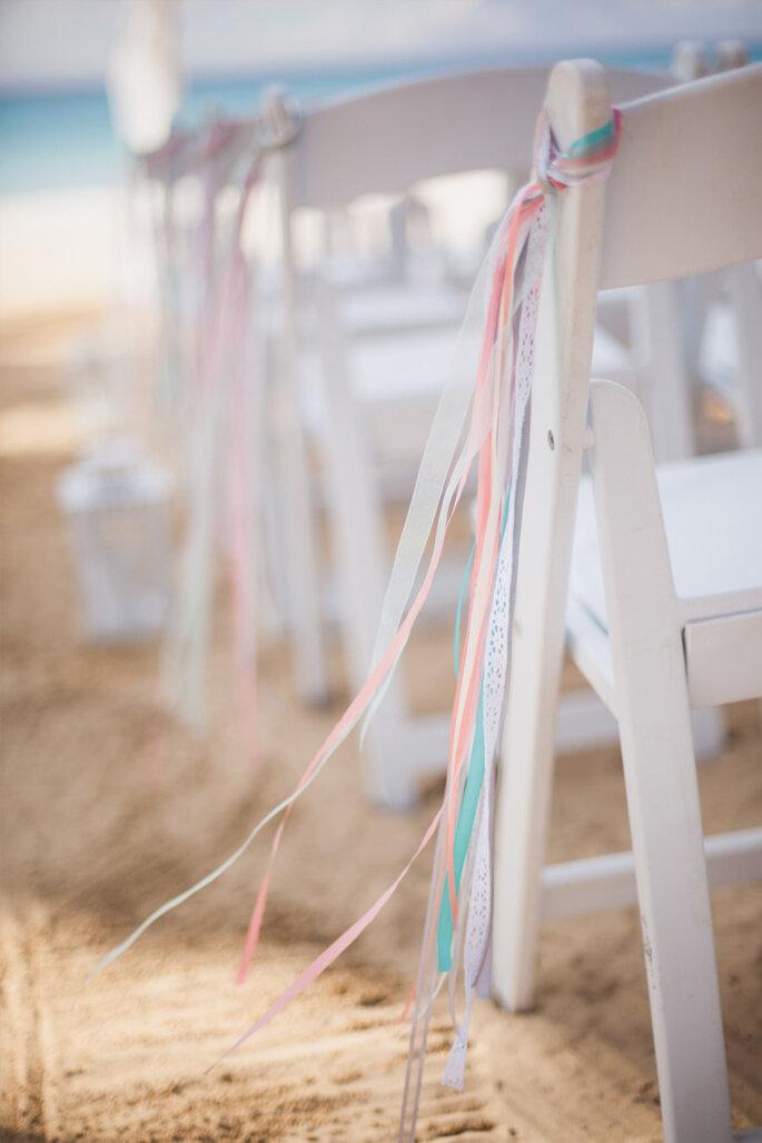 8 maneras creativas de decorar el pasillo de la ceremonia de boda. Foto-Dwayne Larson Photography
