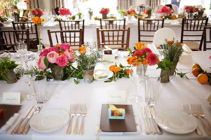 Flores en colores intensos. Foto: Esther Sun