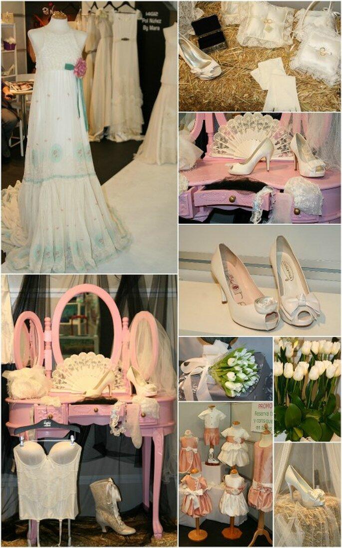 Nuestros detalles favoritos: Flores de alquiler, complementos, vestidos de novia, trajes para pajes, detalles de invitadas...