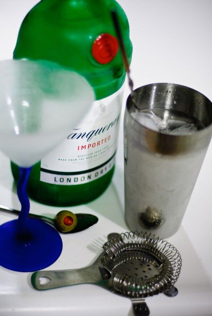 Como preparar  martinis
