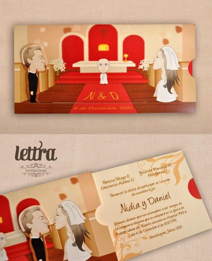 Invitación interactiva de Lettra Invitaciones