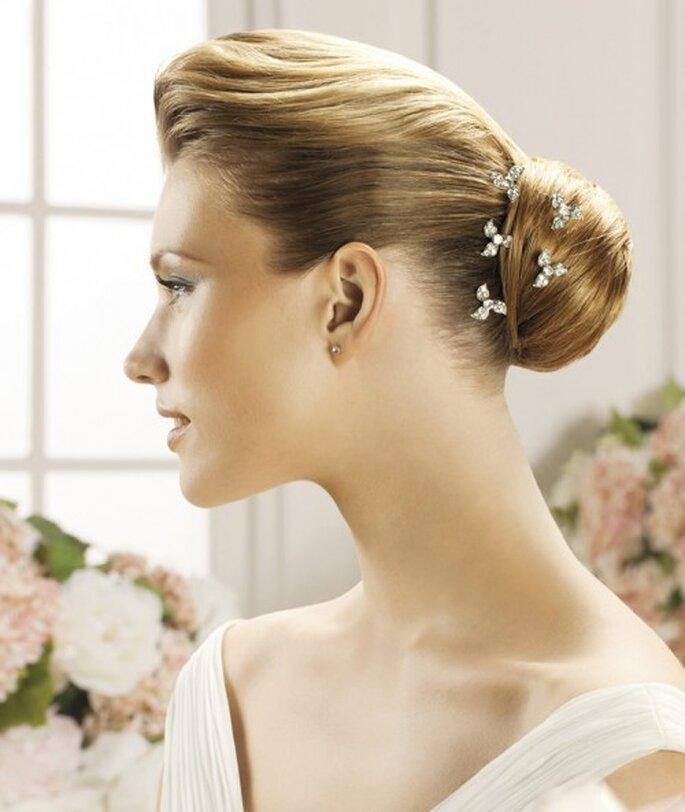Elegantes Tocados Para Peinado De Novia Foro Moda Nupcial Bodas - Peinados-de-novia-elegantes