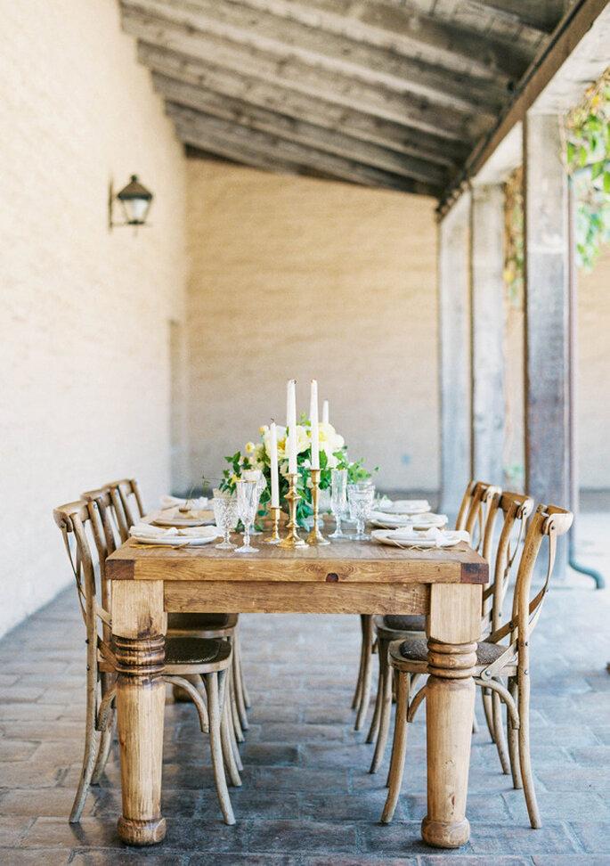 mesas para boda 2016 - Sally Pinera.