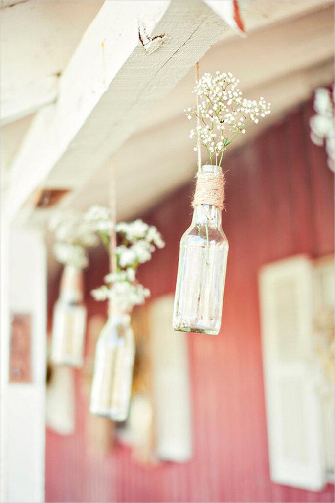 Decoración suspendida para tu boda - Foto Stephanie Sunderland Photography