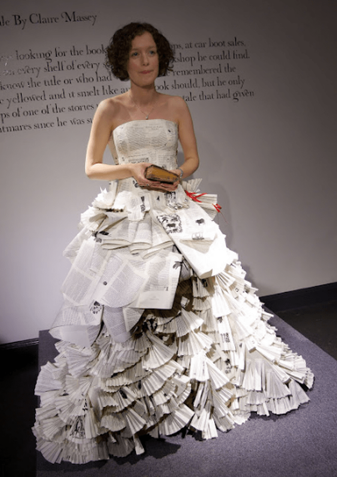 """Vestido de palabras"" de Jennifer Pritchard Couchman. Foto: www.jenniferpritchardbridal.wordpress"