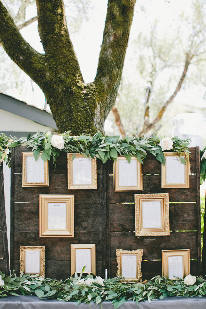 Ideas originales en seating charts - Onelove Photography
