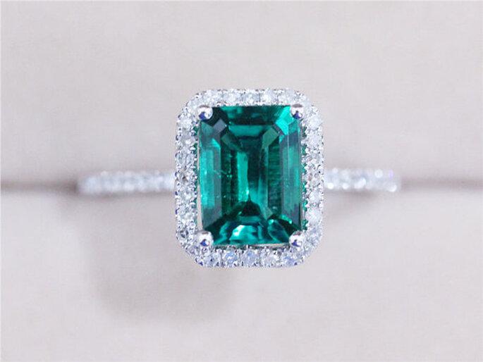Color esmeralda para la decoración de boda - Etsy