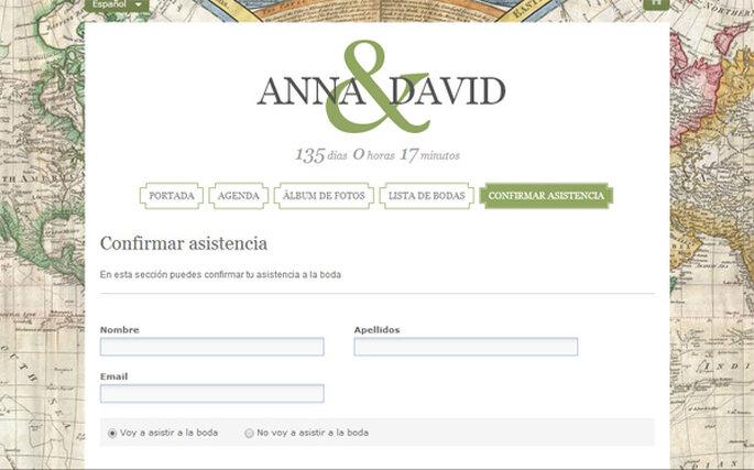 """En la página web de tu boda puedes contar con la herramienta """"Confirmar asistencia"""""""