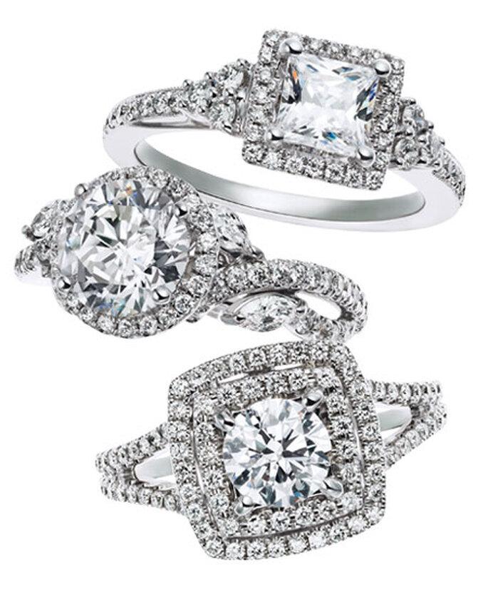 Elegantes anillos de compromiso diseñados por Monique Lhuillier - Foto Brides Facebook
