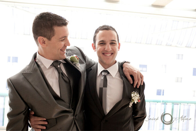 Trajes modernos para una boda - Foto: Josep Álfaro