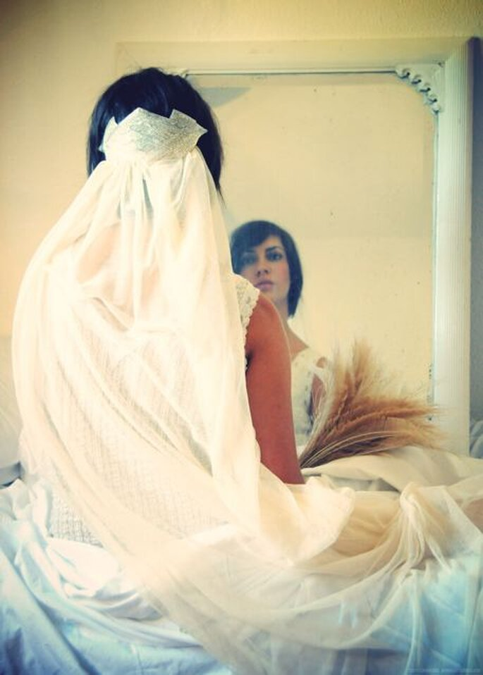 Acessórios para noiva Cherubina - véu anos 20