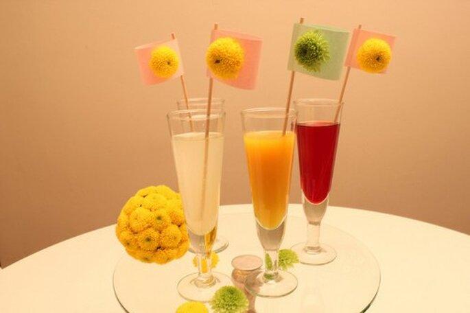 Colorida opción para una bebida en una boda de verano. Foto: O Nosso Casamento