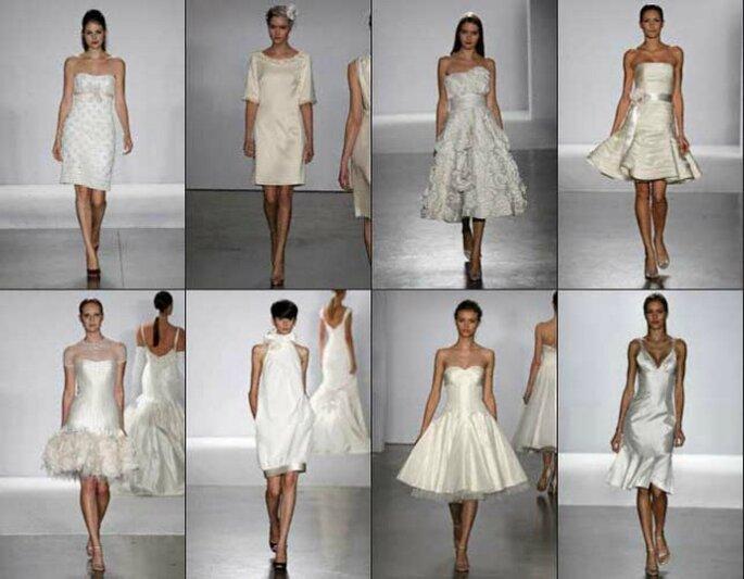 Avete in mente di sposarvi con un abito corto? Ecco qualche idea originale! Foto www.naturadonna.com