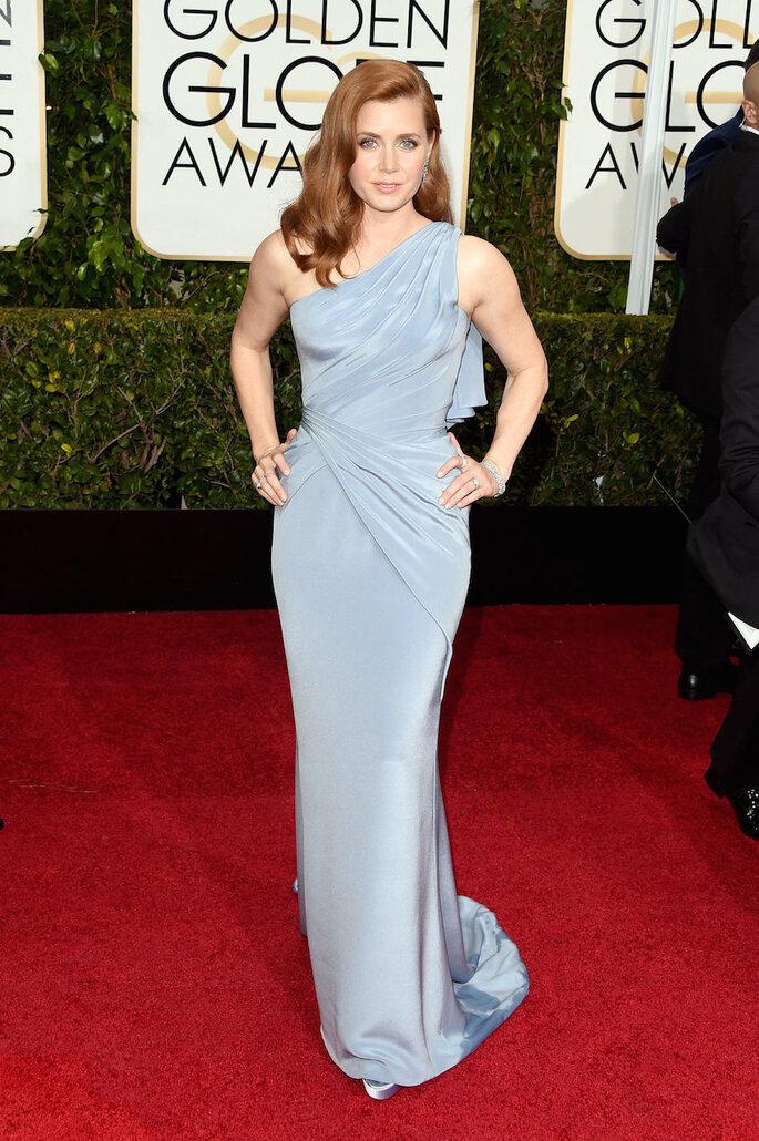 Las mejor vestidas de los Golden Globe Awards 2015 - Versace (Amy Adams)