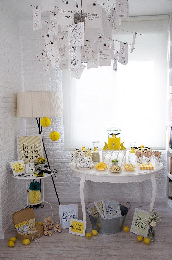 Decoración en amarillo intenso - Macarena