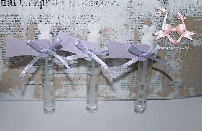 Bolle di sapone in glicine disponibili da Vanilla Wedding Shop