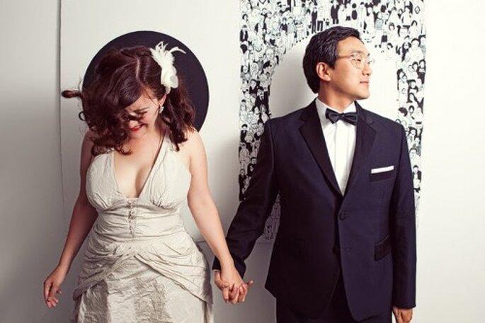 Posieren will gelernt sein, also übern Sie noch vor der Hochzeit – Foto: EnnyJ Photography