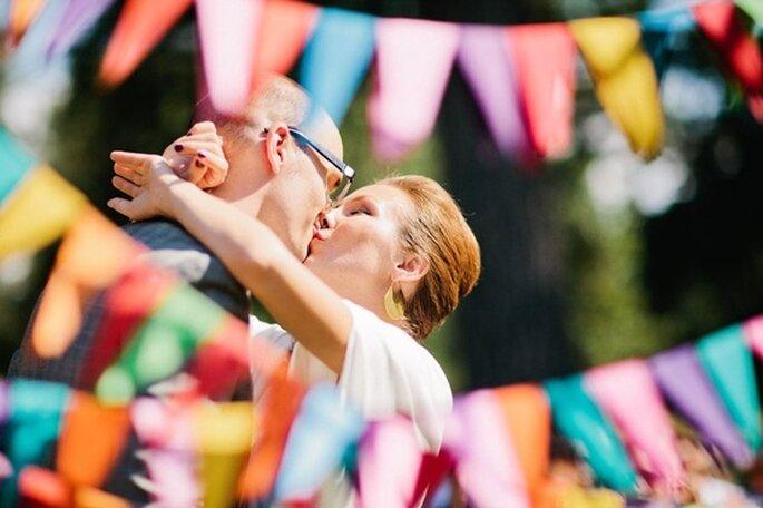 Heiraten mit geometrischer Deko, Foto: Etsy Weddings