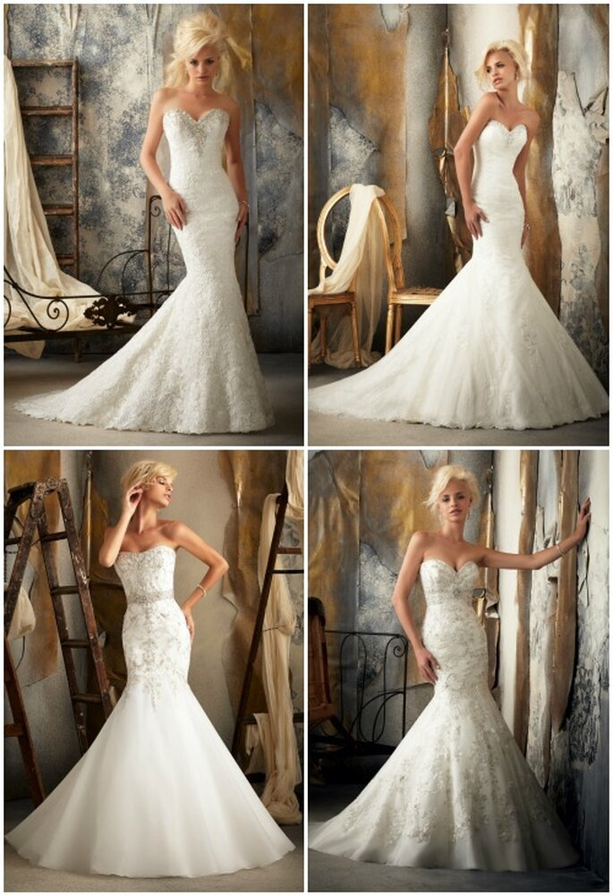 Modelli a sirena Mori Lee 2013 Bridal Collection. Foto: www.morilee.com