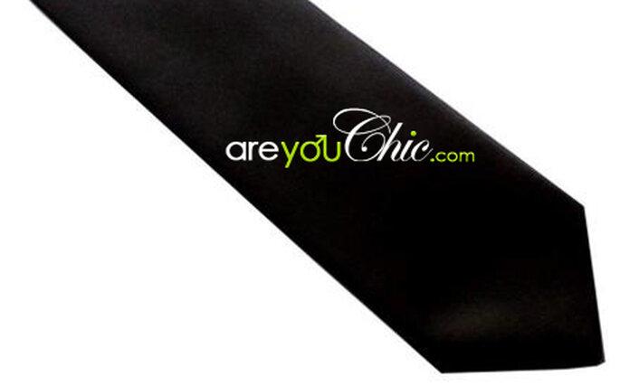 Cravate slim microfibre noire