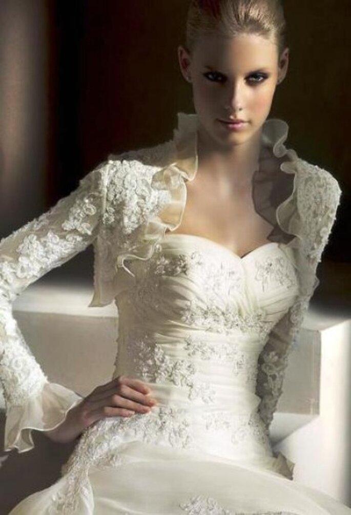 Hermoso traje de novia elaborado con corsé marca San Patrick