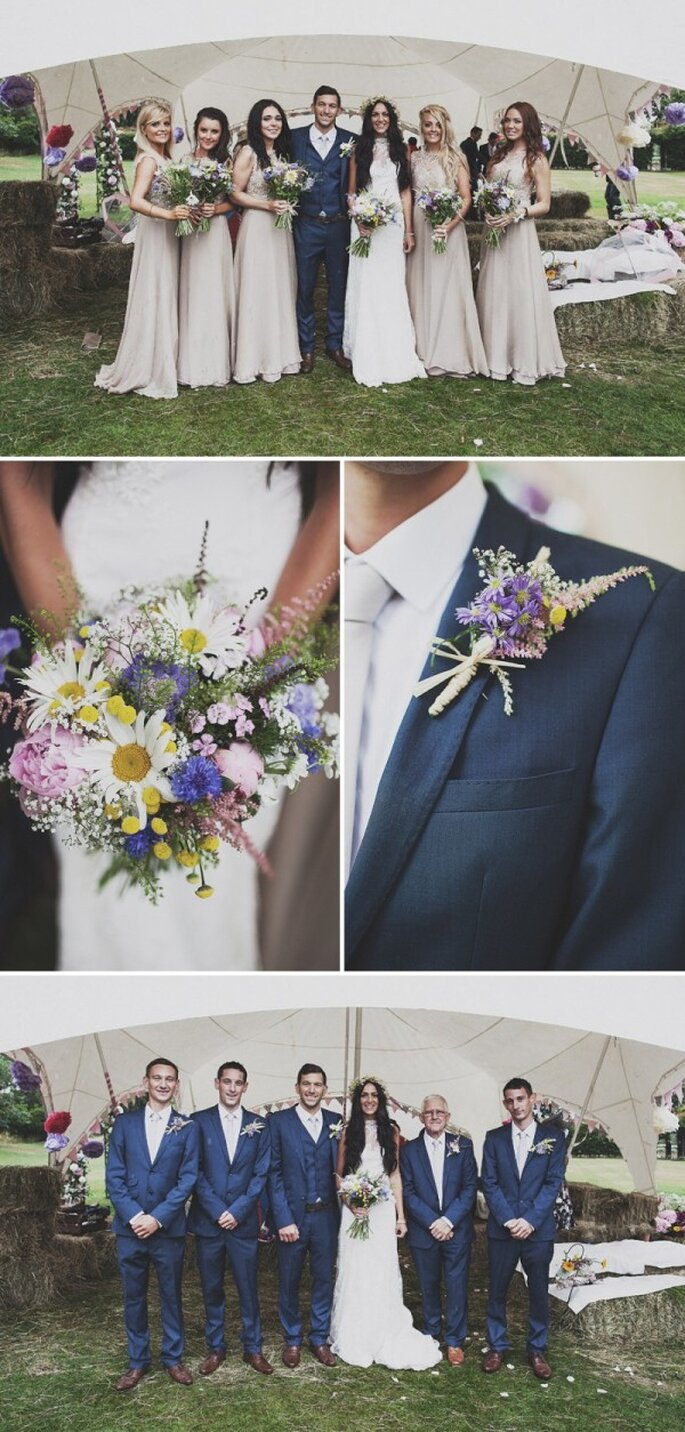Una boda ecléctica envuelta en un festival de color - Foto Anna Hardy