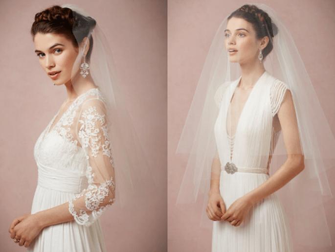 Velos de novia perfectos para combinar con tu estilo - Fotos BHLDN