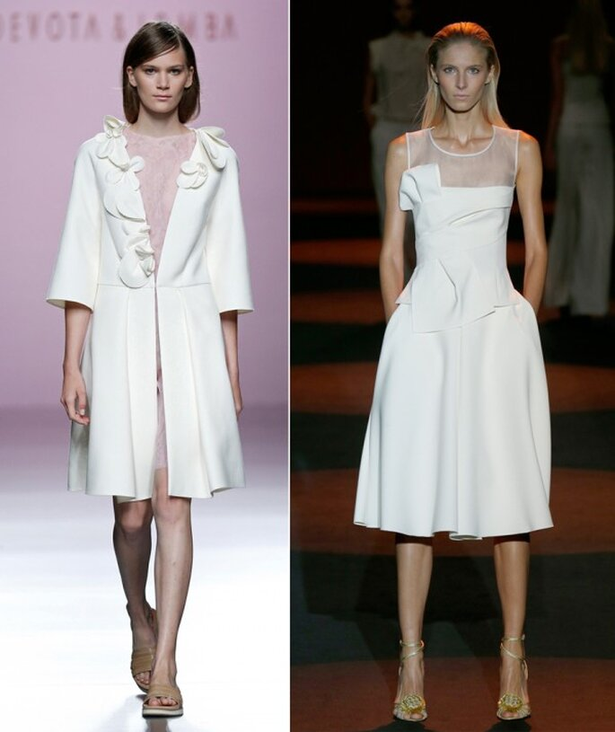 Vestidos de novia 2015 desde la semana de la moda de Madrid - Foto Devota & Lomba y Miguel Palacio