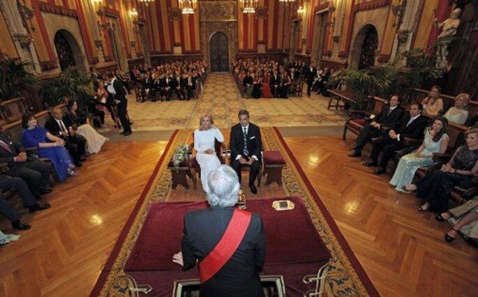 Salón clásico para una boda elegante - Foto Rosa Clará