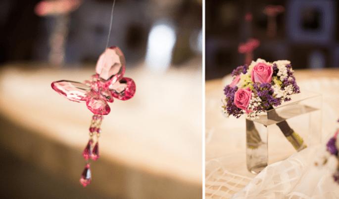 Decoración de boda en color rosa. Fotografía Atlanta Studio