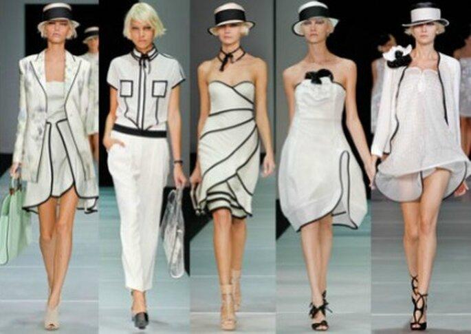 Black & White per la PE secondo Emporio Armani. Foto www.verycool.it