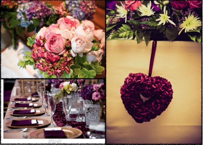 Decoración de boda con rosas - Fotos Marinco Kojdanovski, Salwa Photography y Sarah Janes Photography