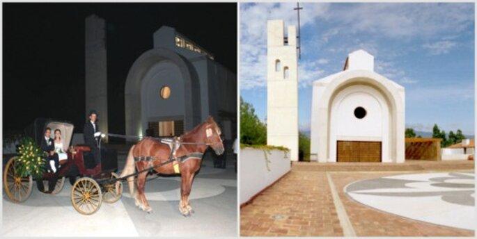 Imagínate llegando a la iglesia en un carruaje. Fotos: Hotel y Centro de Convenciones Casa los Fundadores