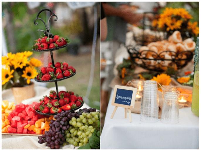 Idées pour décorer votre mariage avec des fruits - Photo Kim J Martin Photography