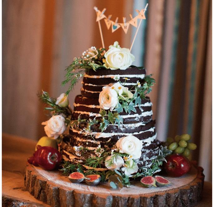 El naked cake, la tendencia más deliciosa en pasteles de boda - Foto Katherine Ashdown