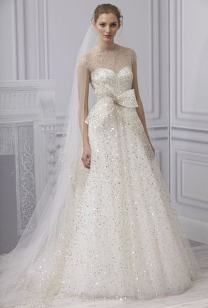 Monique Lhullier Spring 2013 wedding gown