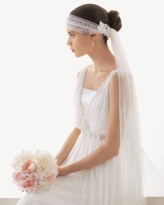 Chongo estilo francés DIY para novia - Foto Rosa Clará