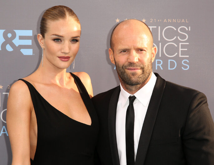 Rosie Huntington Whiteley e Jason Statham.   Credits: Gtres