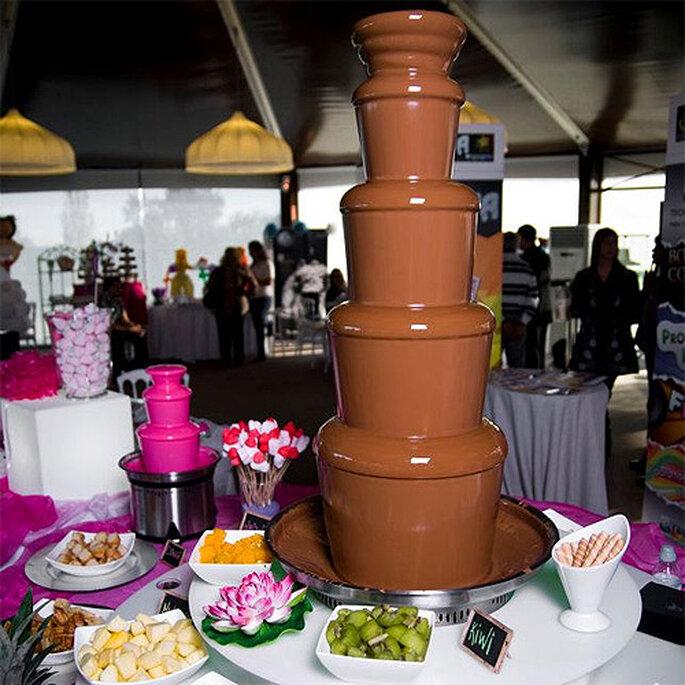 Fuente de chocolate de Caprichos de Chocolate. Foto: The Wedding Room