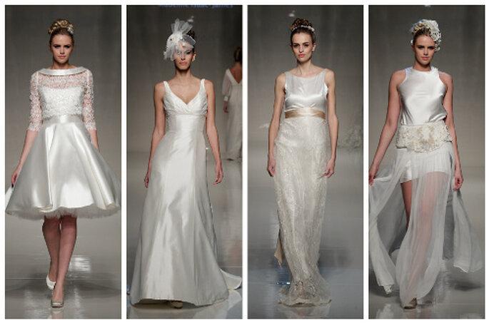 ©Blue Bridalwear. White Gallery London; ©Madeleine Isaac James. White Gallery London; ©The Vintage Wedding Dress Company. White Gallery London; ©Terry Fox. White Gallery London